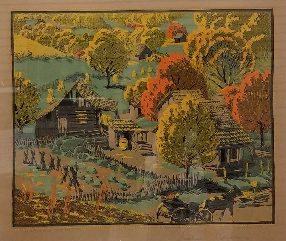 HardenHollowBrownCountyOriginalWoodcut13500Vol.II20of251927GustaveBaumann