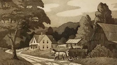 ACountryRoadSignedEtchings11x14KennethReeve